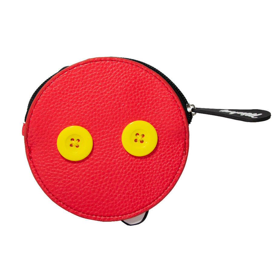 Women's Zip Coin Purse - Mickey Mouse Hand + Buttons