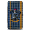 Hinged Wallet - RAVENCLAW Crest Stripes Diamonds Blues Gold