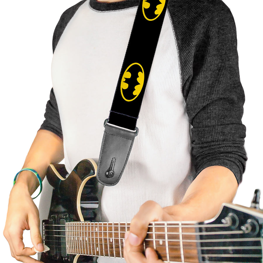 Guitar Strap - Batman Shield Black Yellow