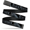 Black Buckle Web Belt - BLACK PANTHER Creeping Pose Black/Grays Webbing