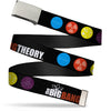 Chrome Buckle Web Belt - THE BIG BANG THEORY DNA/Atom/E/Radiation Black Webbing