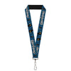 "Lanyard - 1.0"" - KINGDOM HEARTS Shadow Poses2 Navy Blue Black"