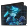 Bi-Fold Wallet - Kingdom Hearts II SPACE PARANOIDS Sora Pose Grid Black Blues