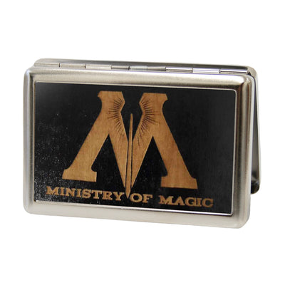 Business Card Holder - LARGE - M-MINISTRY OF MAGIC Symbol GW Black