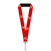 "Lanyard - 1.0"" - Honda Logo Red White"