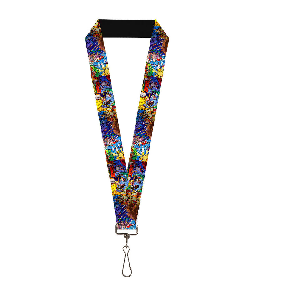 "Lanyard - 1.0"" - Beauty & the Beast Stained Glass Scenes"