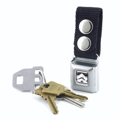 Keychain - Star Wars Stormtrooper Face CLOSE-UP Full Color White Black