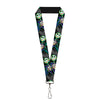 "Lanyard - 1.0"" - Jack Crossed Hands Pose Electric Glow"