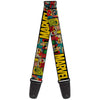 MARVEL COMICS Guitar Strap - MARVEL Retro Comic Panels Black Yellow