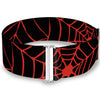 MARVEL COMICS Cinch Waist Belt - Spiderweb Black Red