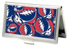 Business Card Holder - SMALL - Steal Your Face Stacked FCG Red White Blue