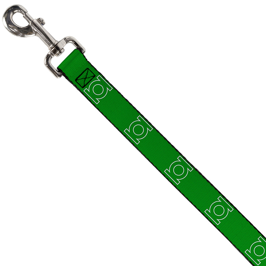 Dog Leash - Green Lantern Logo Green/White