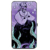 Hinged Wallet - The Little Mermaid Ursula Smiling Sketch Pose Kelp Purples Blues