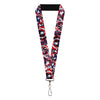 "MARVEL AVENGERS Lanyard - 1.0"" - Captain America Shield Digital Camo Blue White Red"