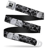 Jack Moon Oogie Boogie Face Full Color Black Grays Seatbelt Belt - Jack & Oogie Boogie Scenes Grays Webbing