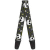 Guitar Strap - Nightmare Before Christmas Jack Expressions Halloween Elements Gray