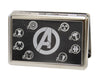 "MARVEL AVENGERS Business Card Holder - LARGE - Avengers ""A"" Superhero Logos Reverse Brushed"