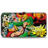 MARVEL COMICS Hinged Wallet - Thor & Loki Battle Scene I DO WHAT I WANT THOR!
