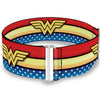 Cinch Waist Belt - Wonder Woman Logo Stripe Stars Red Gold Blue White