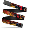 Black Buckle Web Belt - NIGHTWING Poses/Bats Welcome to Gotham Comic Book Cover Webbing