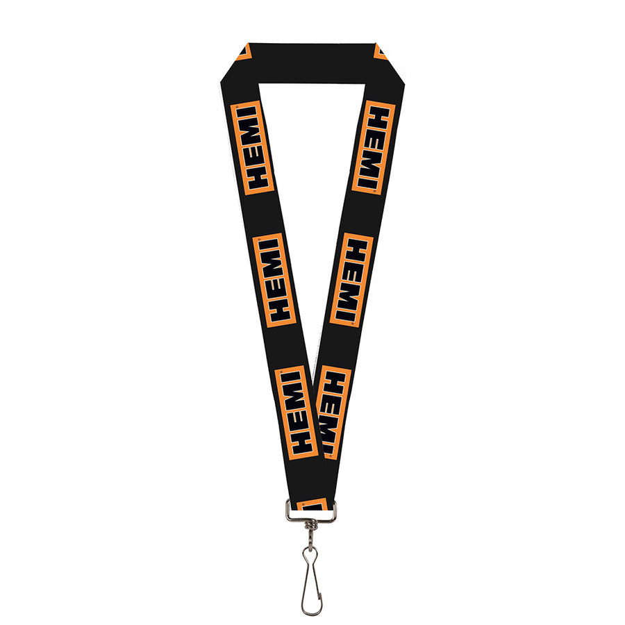 "Lanyard - 1.0"" - HEMI Bold Black Orange White Black"