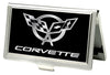 Business Card Holder - SMALL - Corvette FCG Black Silver