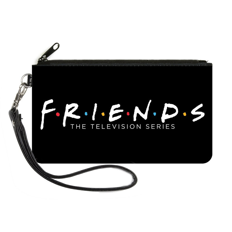 Canvas Zipper Wallet - SMALL - FRIENDS-THE TELEVISION SERIES Logo Black White Multi Color