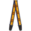 MARVEL X-MEN Guitar Strap - X-Men Cyclops Utility Strap Blue Gold Black Red