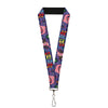 "Lanyard - 1.0"" - BING BONG Poses Candy Purples Multi Color"
