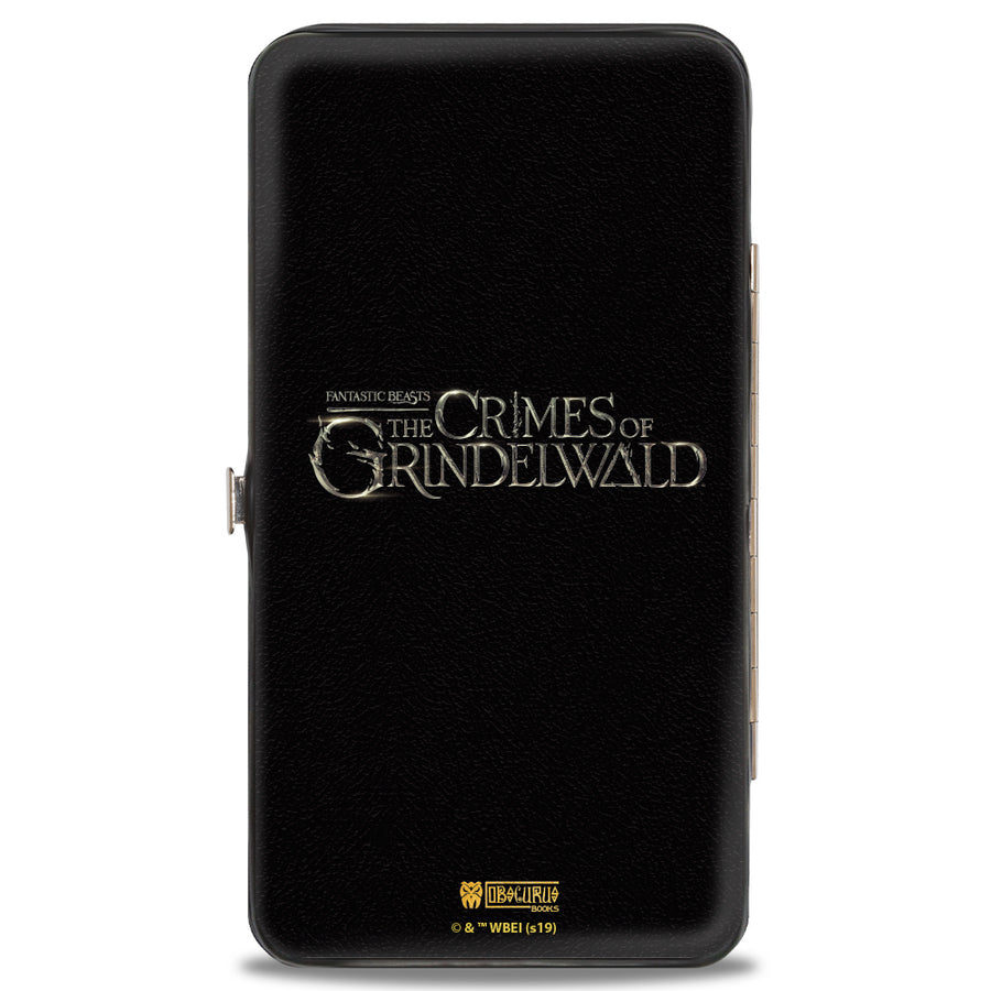 Hinged Wallet - FANTASTIC BEASTS THE CRIMES OF GRINDEWALD Obscurus Book Binding Black Golds