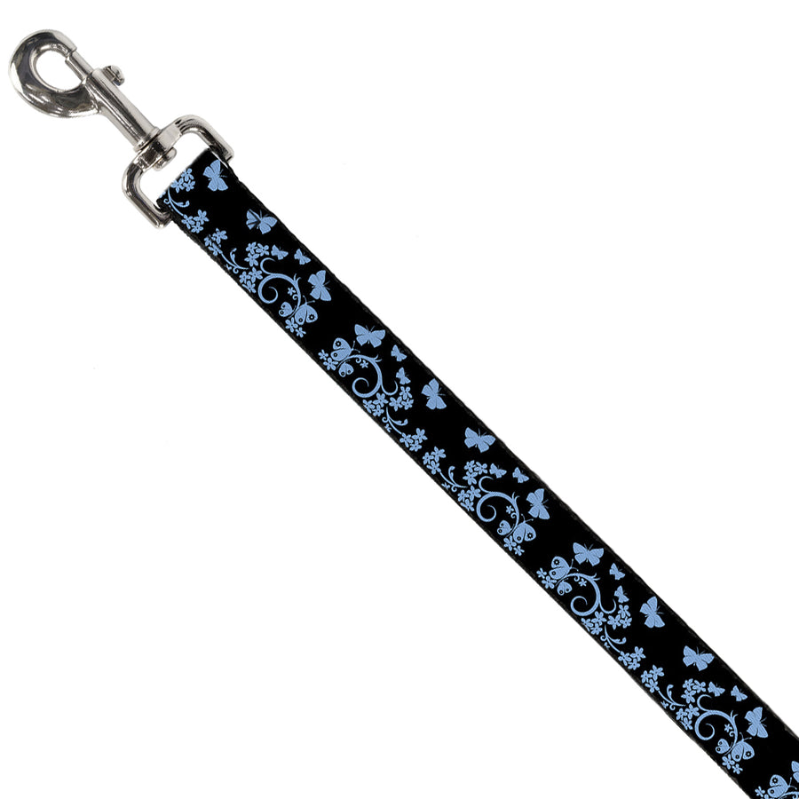 Dog Leash - Butterfly Garden Black/Blue