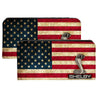 Canvas Snap Wallet - SHELBY Tiffany Box Americana Black White