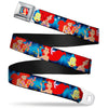 Ariel Daydreaming Full Color Blues Seatbelt Belt - The Little Mermaid Under the Sea Scenes Webbing