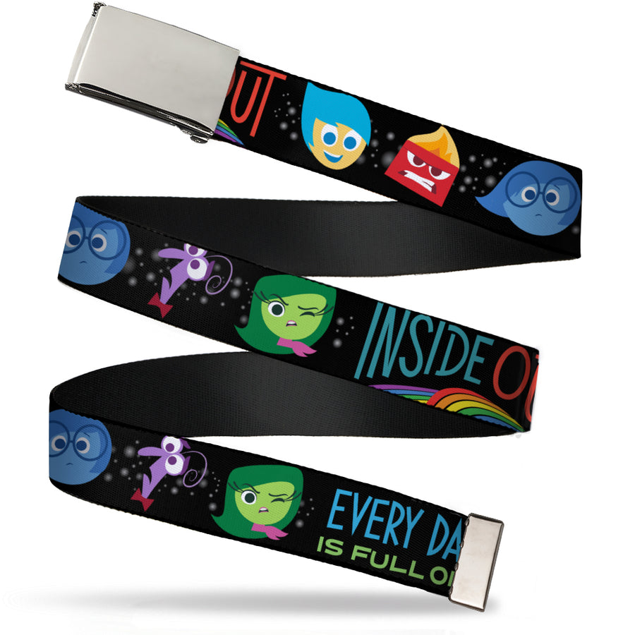 Chrome Buckle Web Belt - INSIDE OUT/Emotion Expressions/EVERY DAY IS FULL OF EMOTIONS Webbing