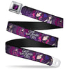 Descendants Dragon Heart Full Color Black Purples Seatbelt Belt - Descendants Mal 3-Poses GOOD ISN'T ALWAYS/Hearts/Dragons EASY Purples/Pinks Webbing