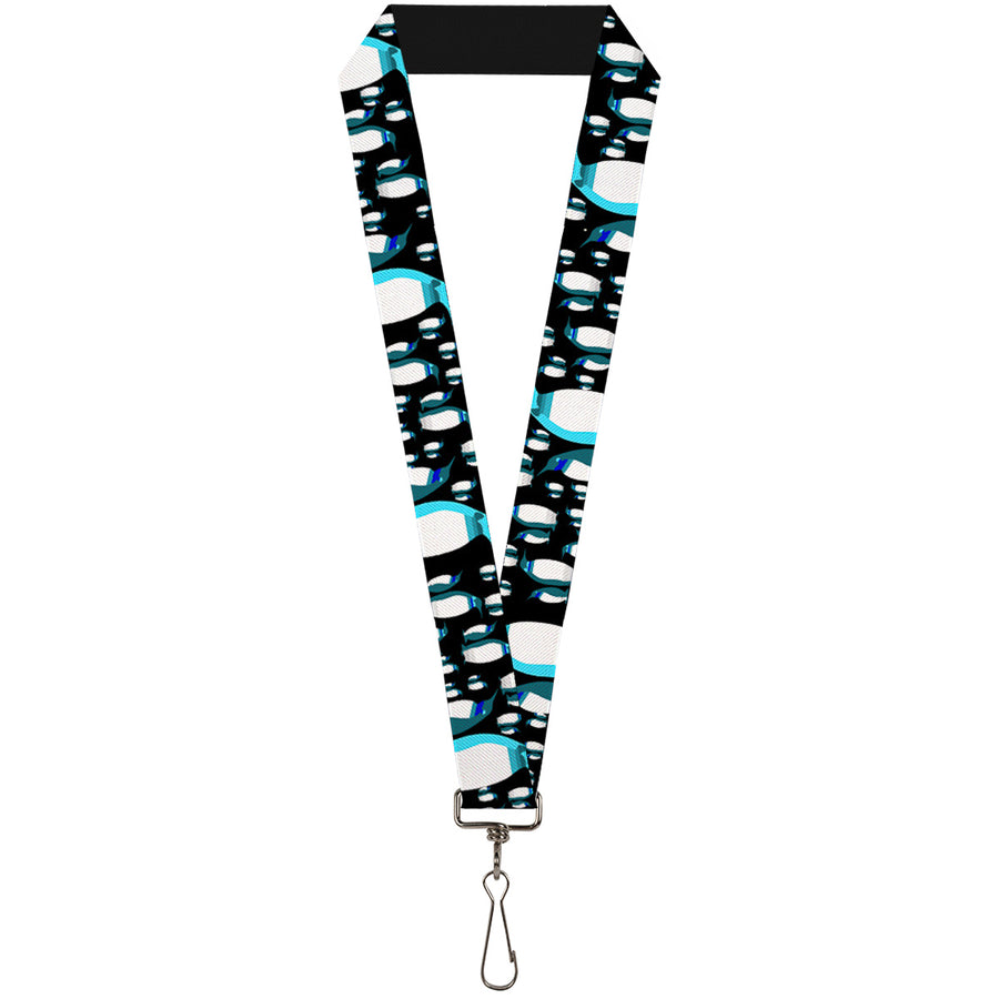 "Lanyard - 1.0"" - Emperor Penguins Gray Blues"