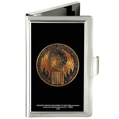 Business Card Holder - SMALL - MACUSA Seal FCG Black Golds