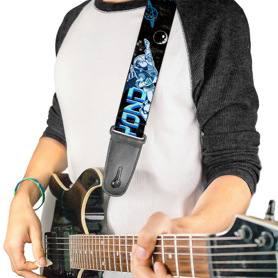 Guitar Strap - Buzz Poses Stars TO INFINITY AND BEYOND Black Blues