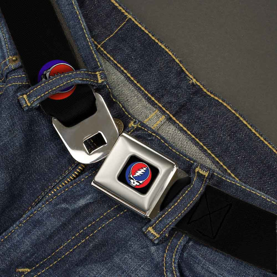 Steal Your Face Seatbelt Belt - Steal Your Face Repeat Black/Color Webbing