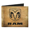 Canvas Bi-Fold Wallet - RAM Logo + GUTS-GLORY Pistons Weathered Black