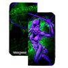 Canvas Snap Wallet - CATWOMAN Whip Pose Graffiti Black Greens Purples