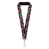"Lanyard - 1.0"" - Dr Facilier Tarot Card Pose2 Black Greens"