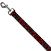 Dog Leash - Deadpool Splatter Logo Scattered Black/Red/White