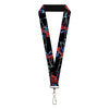 "2016 SPIDER-MAN Lanyard - 1.0"" - Spider-Man 3-Shooting Web Poses Webs Black Grays"