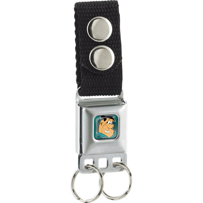 Keychain - Fred Face Full Color Turquoise