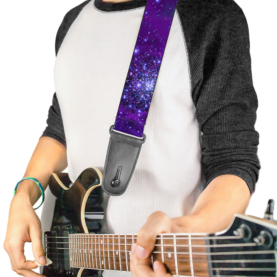Guitar Strap - Galaxy Blues Purples