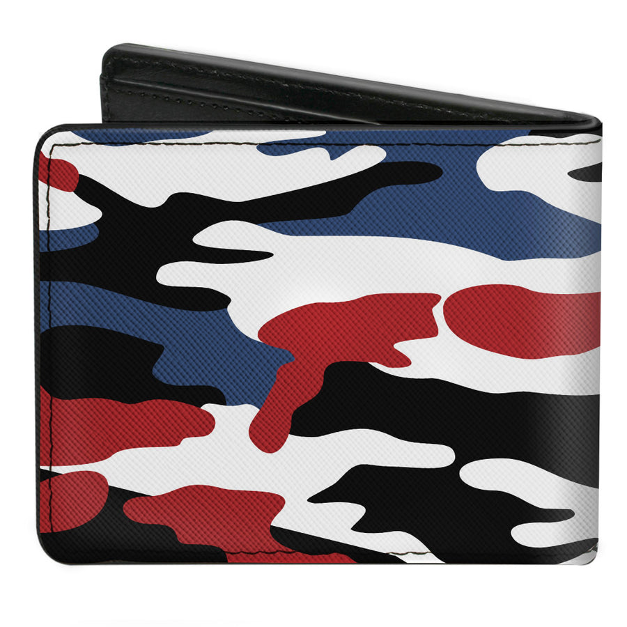 Bi-Fold Wallet - RAM Logo + Americana Camo Black White Red Blue