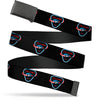 Black Buckle Web Belt - COLUMBIA STS-1 Space Shuttle Black/White/Blues/Red Webbing