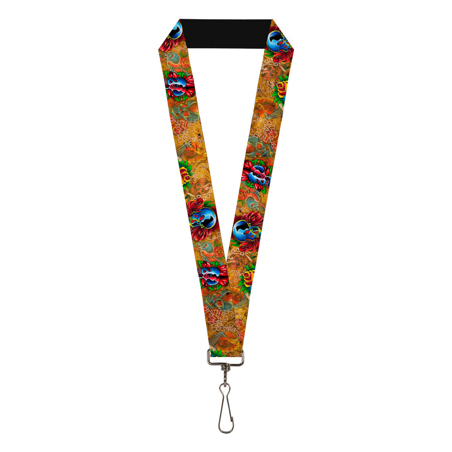 "Lanyard - 1.0"" - Tattoo Johnny-Candles & Skulls"