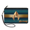 Canvas Zipper Wallet - LARGE - AQUAMAN 2017 Icon Scales Stripe Blues Golds